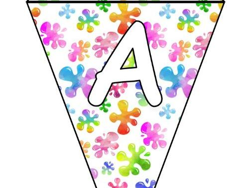 Printable bunting display bulletin letters numbers: Art Paint Colours