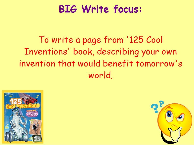 Year 6 Independent Non-Fiction Writing Stimulus Pack - Cool Inventions