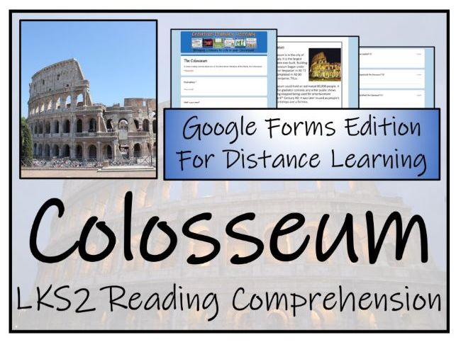LKS2 The Colosseum Reading Comprehension & Distance Learning Activity