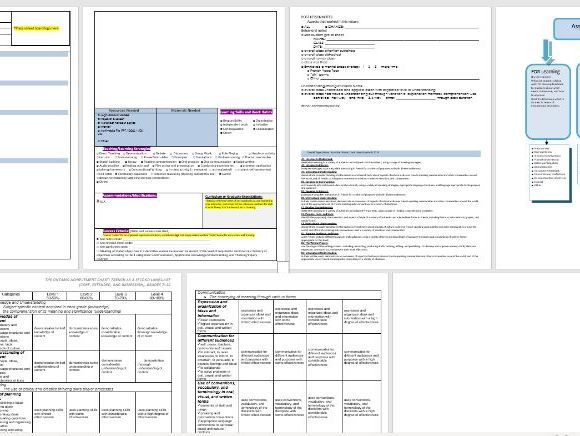 General French Unit or lesson plan template with assessment tracking