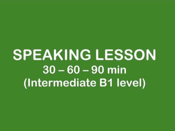 ESL Lesson - SPEAKING B1