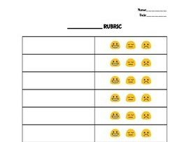Emoji Rubric Template Editable in Google Docs