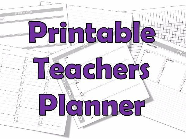 Teacher Planner 2016-17 (Printable)