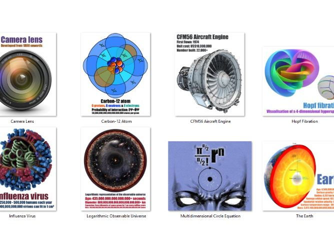 🌌 8 Amazing Circle Posters 🌌 Planets, Atoms, Engines and more!