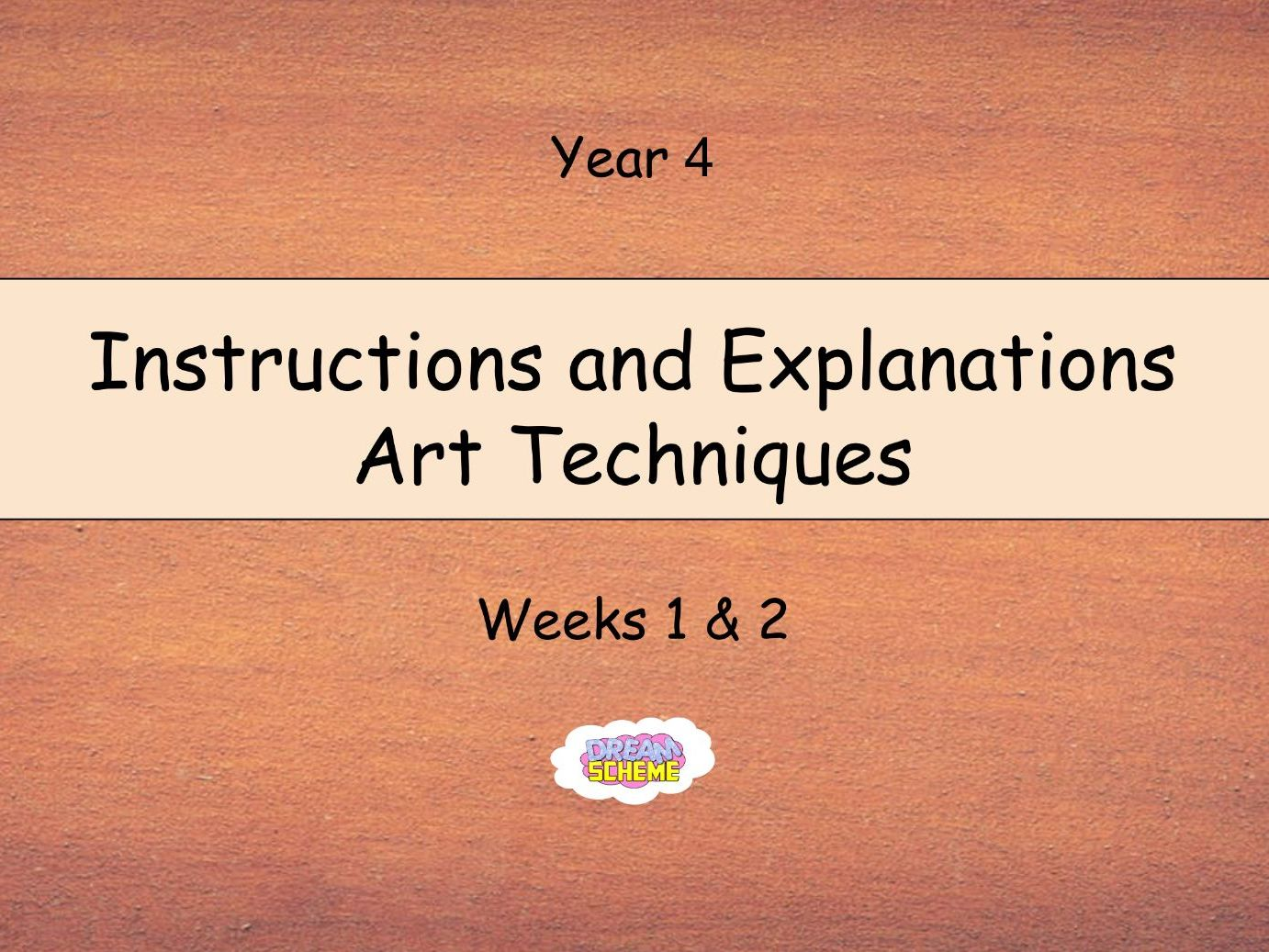 Year 4: Instructions and Explanations - Art Techniques (Complete 2-Week Unit)