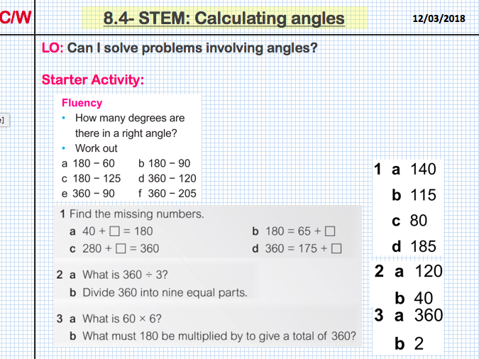 STEM: Calculating angles