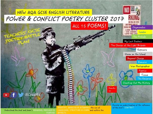 Teachers' Complete GCSE Poetry Bundle, Power & Conflict (ALL 15 POEMS), NEW AQA ENGLISH LITERATURE!