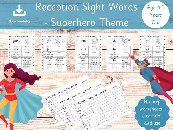 Reception Sight Words