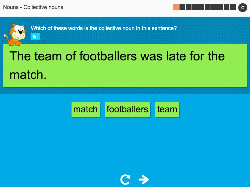 Collective nouns - Interactive Activity - KS3 Spag