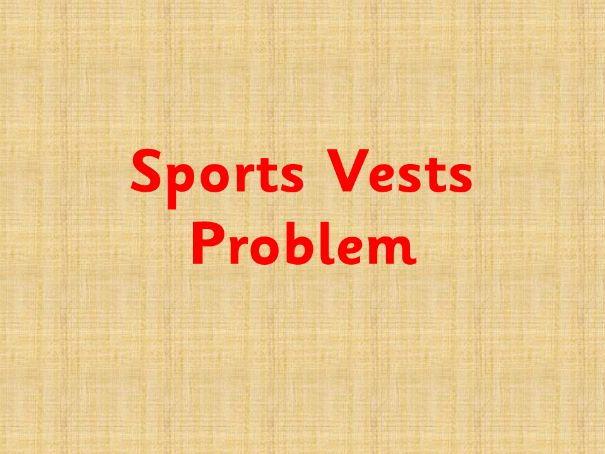 Sports Vests Maths Problem