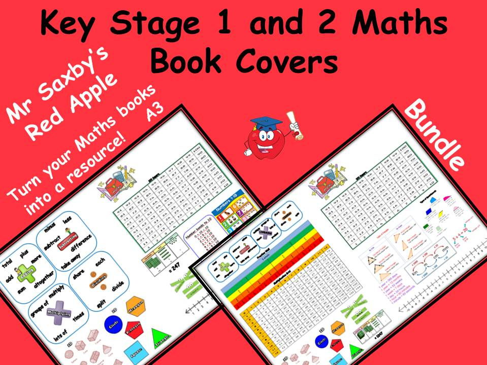 Key Stage 1 and 2 Maths Book Covers