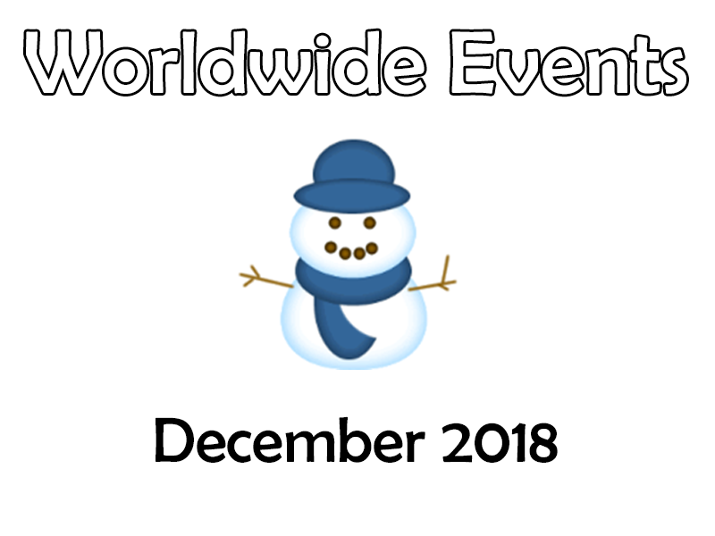 Tutor Time - Worldwide Events – December 2018