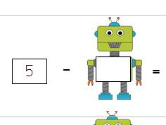 Missing number sentence robots