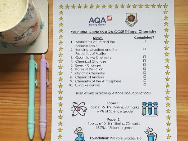 Quick Guide to AQA GCSE Chemistry (Combined/Trilogy)