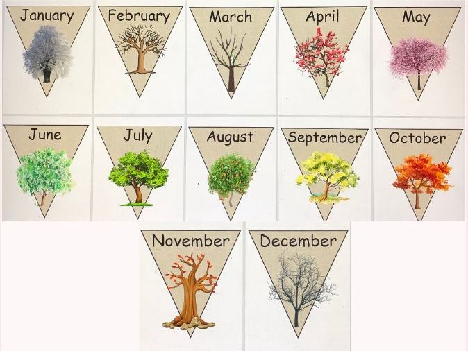 Months of the year bunting