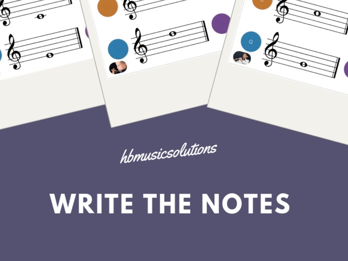 Write The Notes (Flute, Oboe, Clarinet)