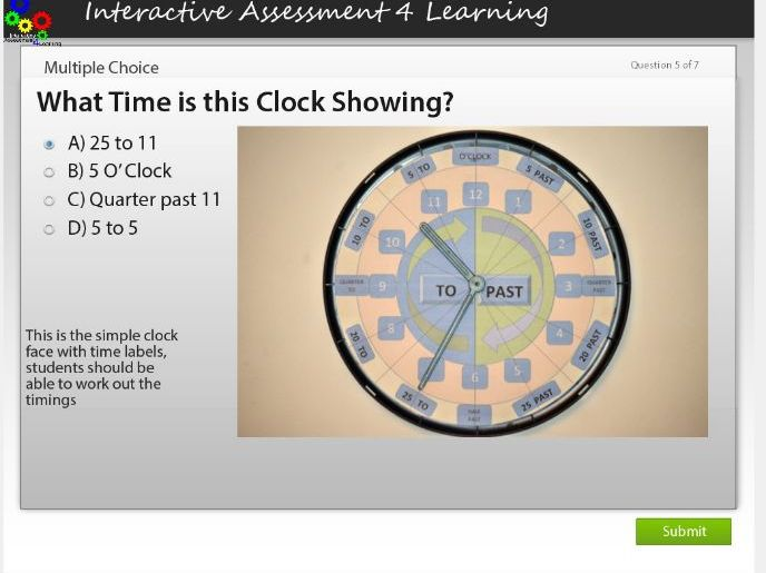 Telling the Time Quizzes Year 1