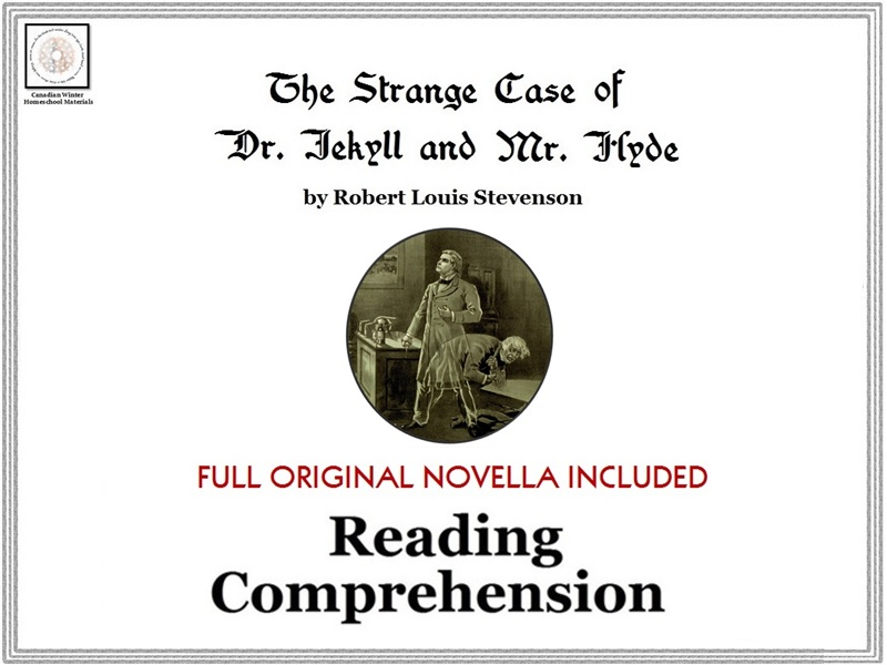 'The Strange Case of Dr. Jekyll and Mr. Hyde' Reading Comprehension