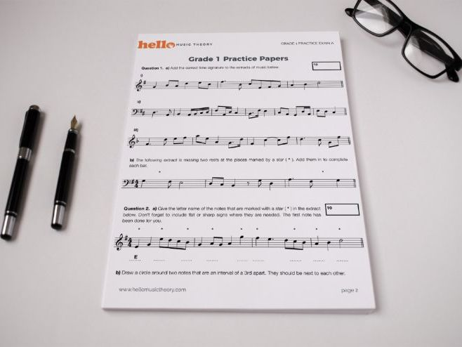 Grade 1 Music Theory Practice Exam