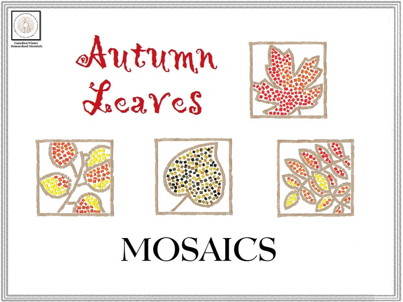Autumn Leaves Mosaics Templates & Instructions