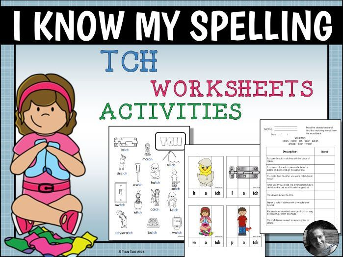 Phonics Worksheets and Activities 'TCH' Wordlist