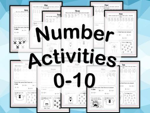 Number Formation Activities 0-10