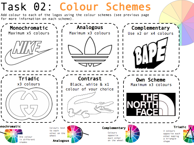 Art/Graphic Design Worksheets X3 - Colour Theory SELF-DIRECTED