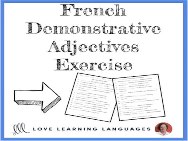 French Demonstrative Adjectives Worksheet or Quiz by ...