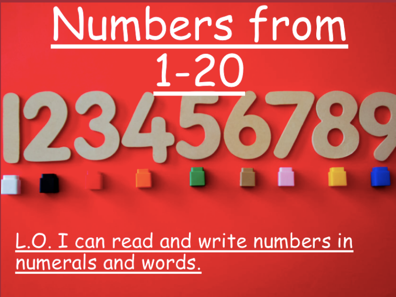 Read and Write Numbers from 1-20 in Numerals and Words