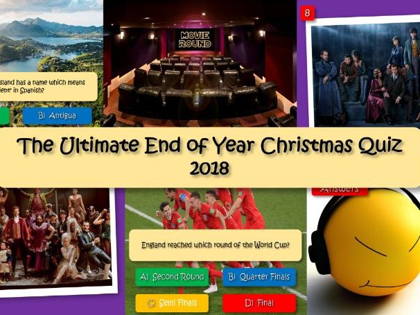 Ultimate End of Year Christmas Quiz 2018