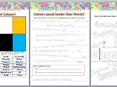 Colour Theory & Emotions Art Worksheets