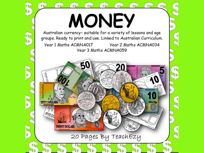 Australian Money for printing