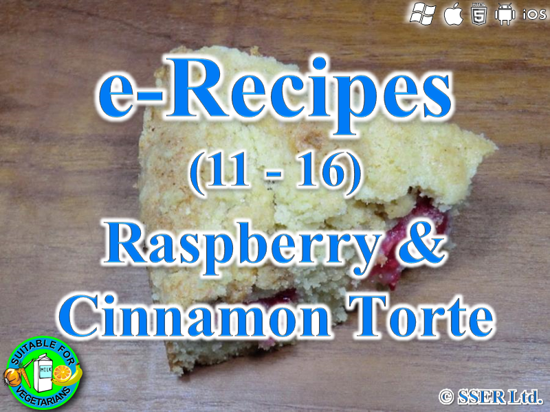19.   Raspberry & Cinnamon Torte (e-Recipe)