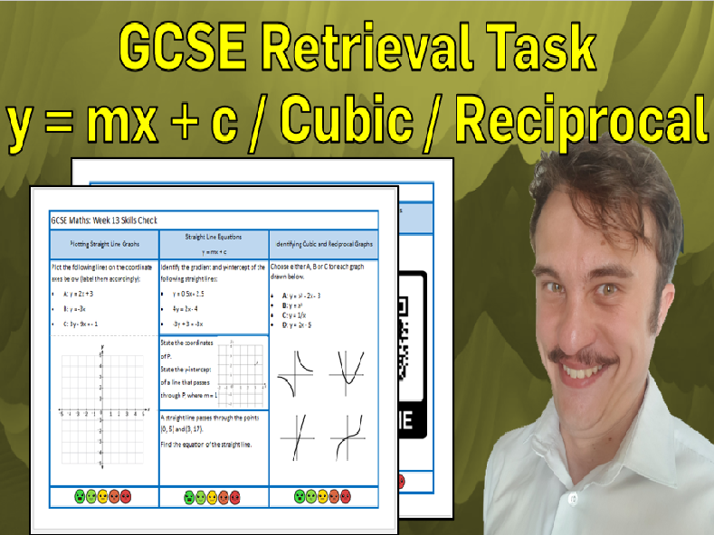 Straight Lines, Cubics and Reciprocal Graphs GCSE Foundation/Resit Retrieval Sheet