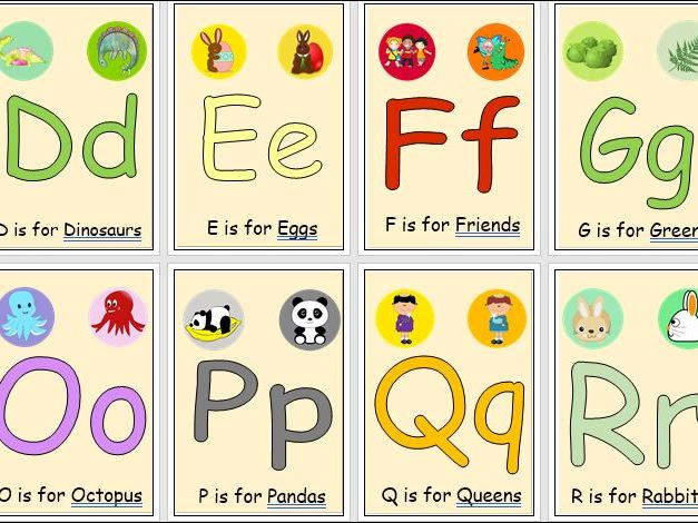Colour Alphabet Posters or Wall Frieze