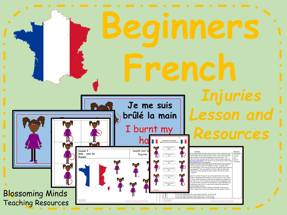 French Lesson and Resources - Injuries - KS2