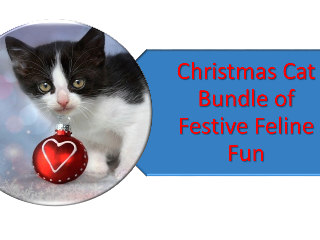 Christmas Feline Fun with cats