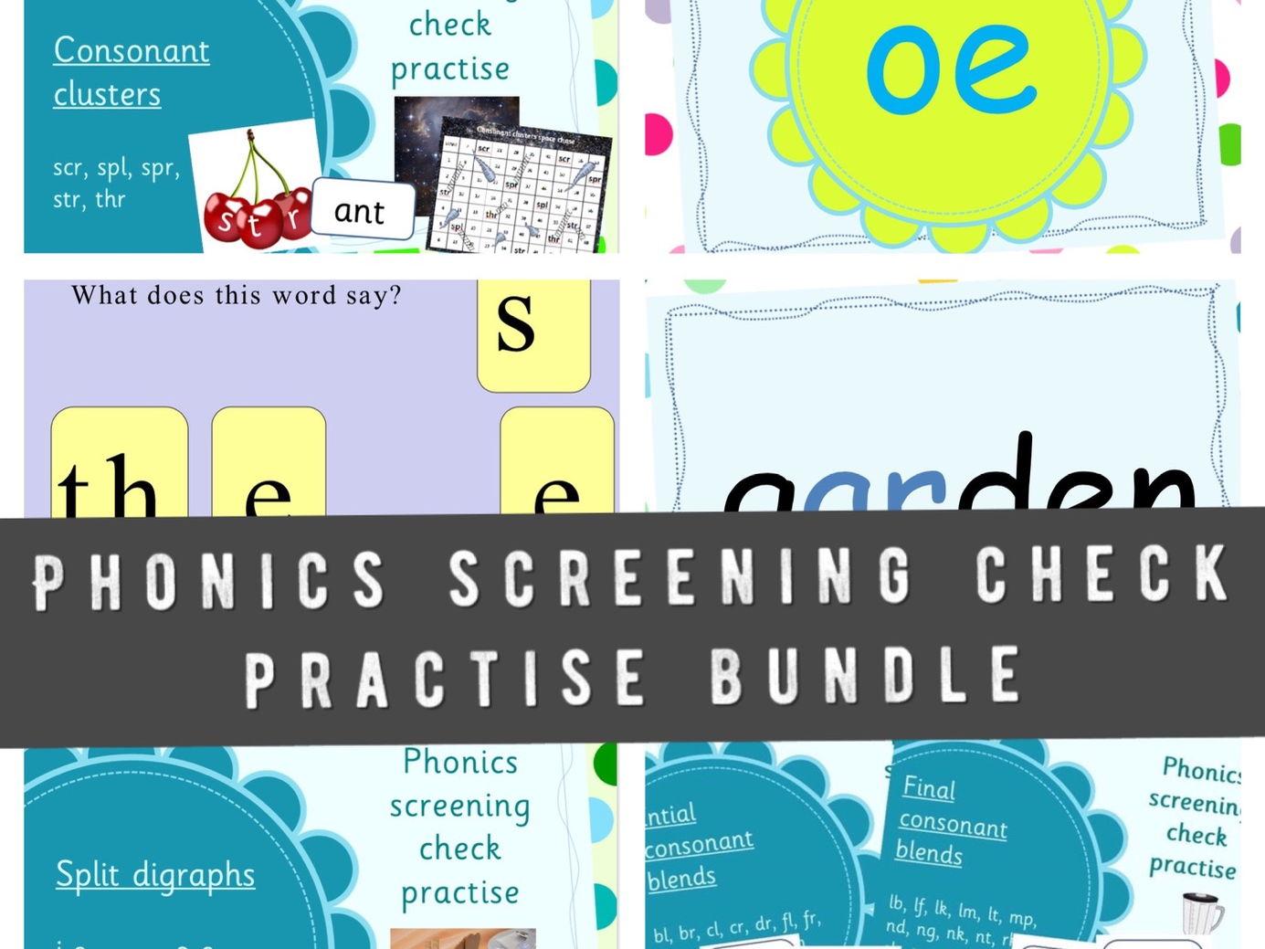 Phonics screening check practise bundle