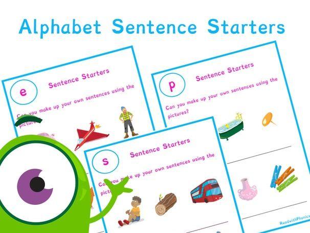 Alphabet CVC Phonics Silly Sentence Starter | Phonics Resources Year 1, EYFS | Read with Phonics