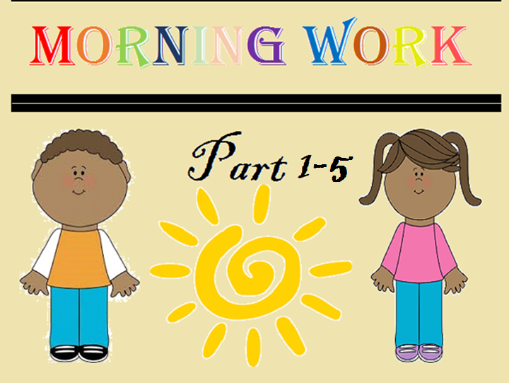 Kindergarten Morning Work All in one BUNDLE (September - June)