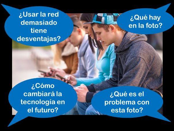 Spanish GCSE Higher technology photo card practice