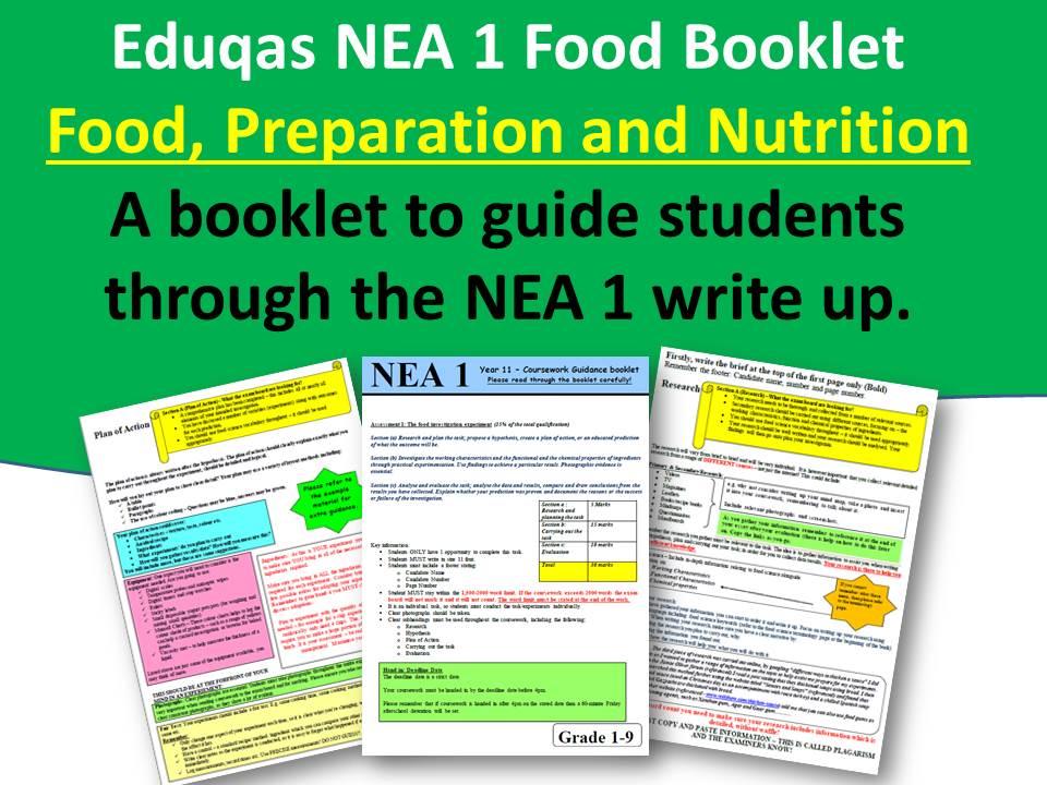 NEA 1, Eduqas Booklet