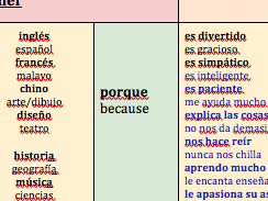 KS3---Viñales-Spanish---School---Teachers + Subjects + Opinions-THREE-Sentence-Builders