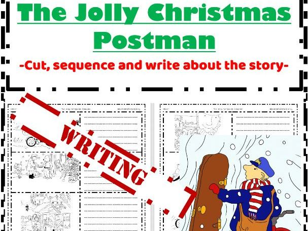 The Jolly Christmas Postman Writing - Sequence write colour retell the story