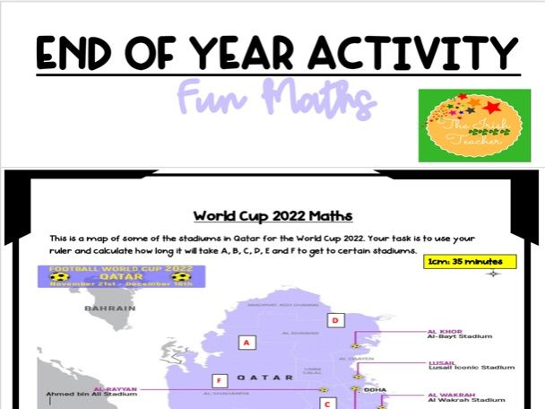 End of Year Activity: Maths