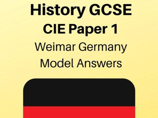Weimar Germany: GCSE Exam Model Answers