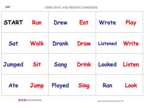 Verbs (Past & Present) Dominoes