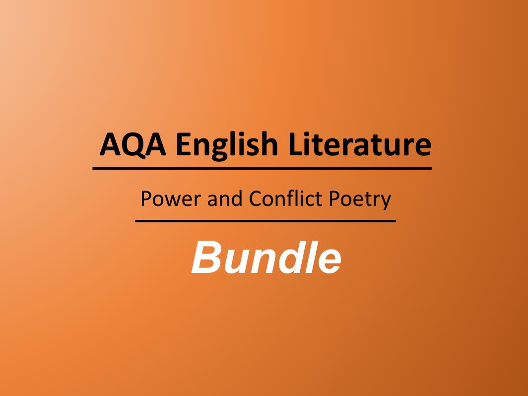 Power and Conflict Poetry Bundle