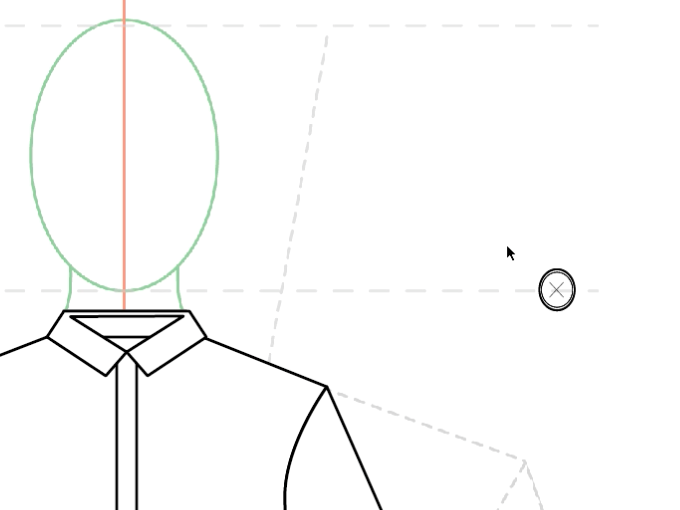 How to draw fashion flats - Shirt inc. creating symbols