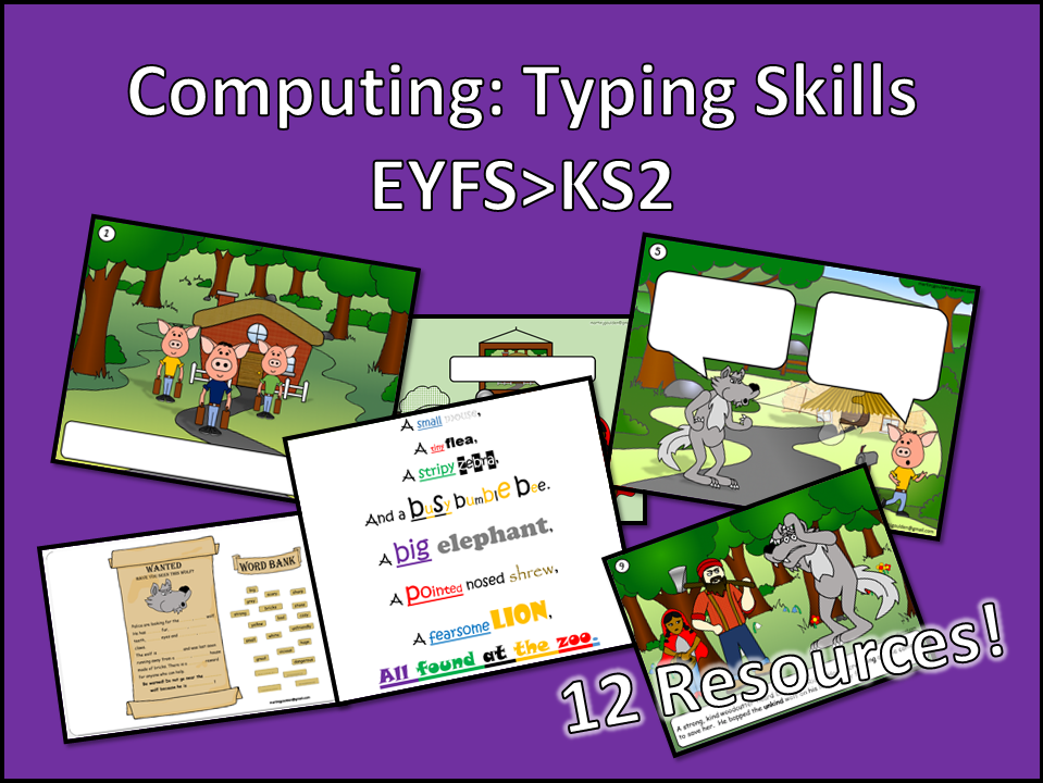 Computing Typing Bundle EYFS>KS2
